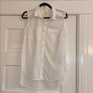 H&M sleeveless cotton shirt
